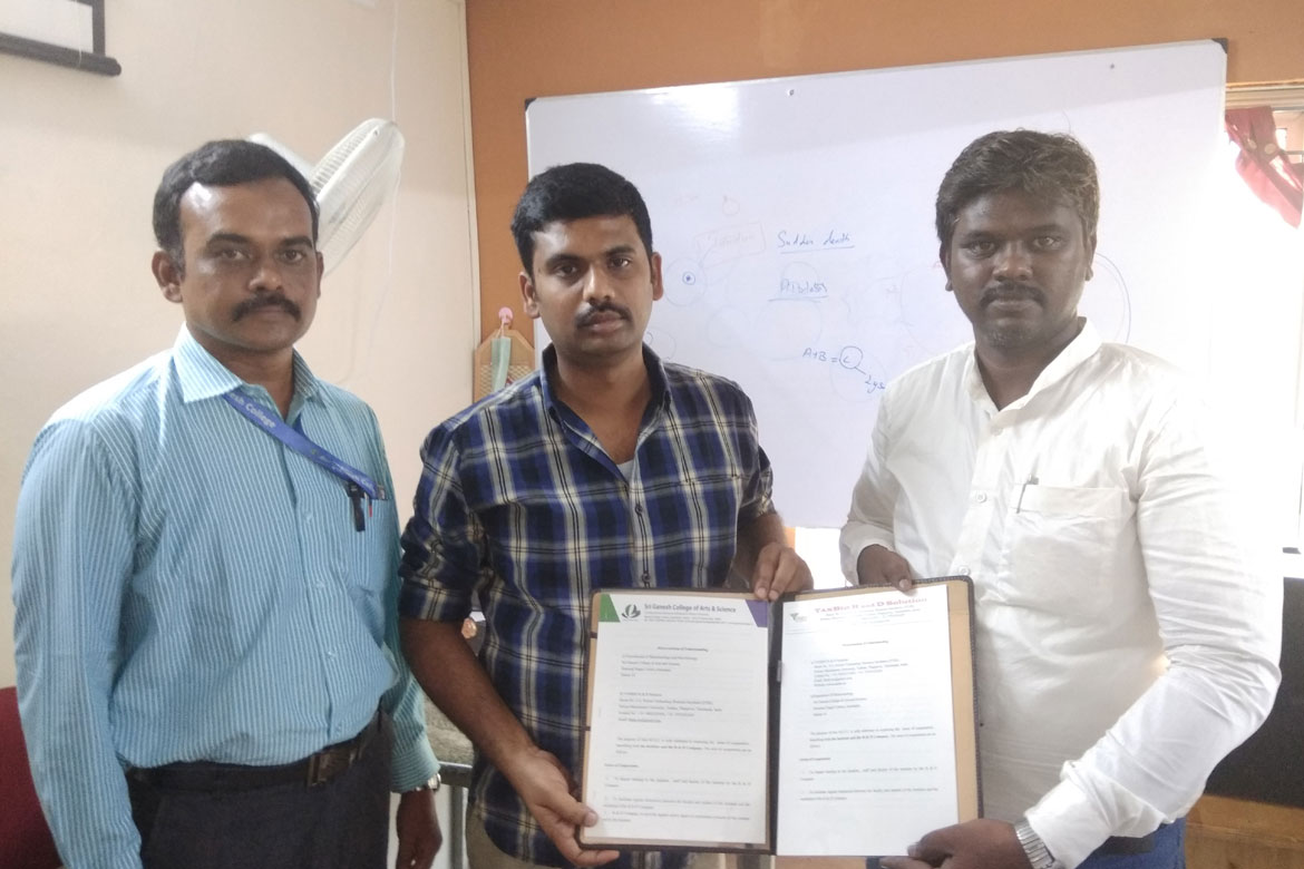 Mou with Ganesh College Salem